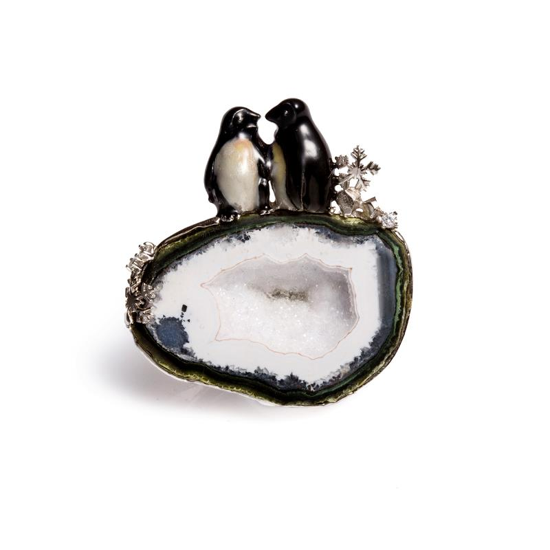 INATURE 925 Sterling Silver Natural Agate Necklace Pendant Animal Jewelry Necklaces For Women