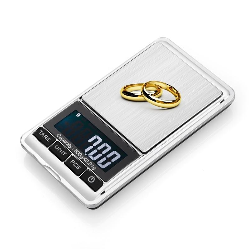 500g 0,01 g skaitmeninės kišeninės svarstyklės 500G 0,01 g - Matavimo prietaisai - Nuotrauka 3