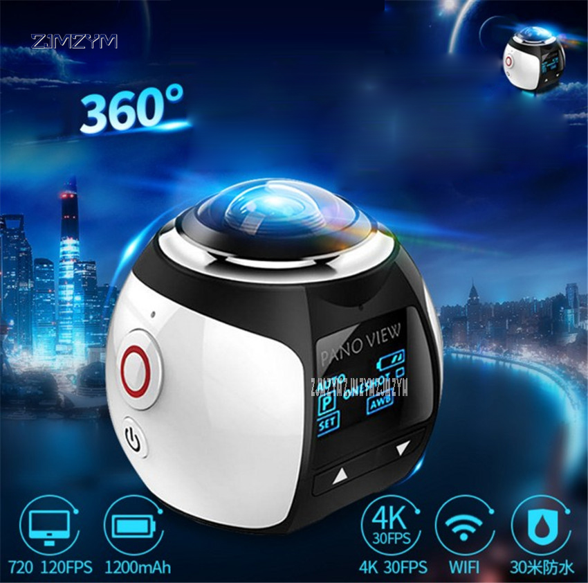 V1 360 Camera Wifi Mini 360 Action Camera 2448*2448 Ultra HD Panorama Camera 360 Degree Sport Driving VR Camera Webcams 5V soocoo 360h wifi 360 degree panorama vr 4k camera 1080p 60fps full hd lcd screen mini sport action camera with remote controller