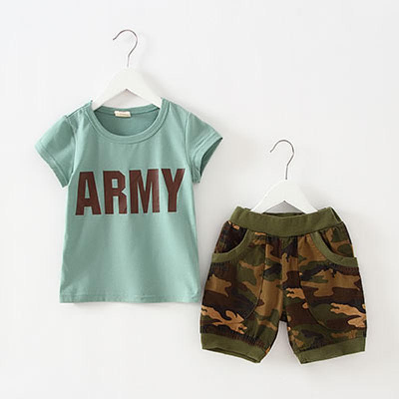 Summer Army Camouflage Baby Boys Clothes Kids Clothing