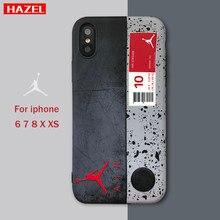 3ccf69ec8bb3 Fashion Japan USA street tide Air Jordan brand soft case for iphone 6 6S 7  plus 8 plus 10 X XS MAX XR Label retro phone cover