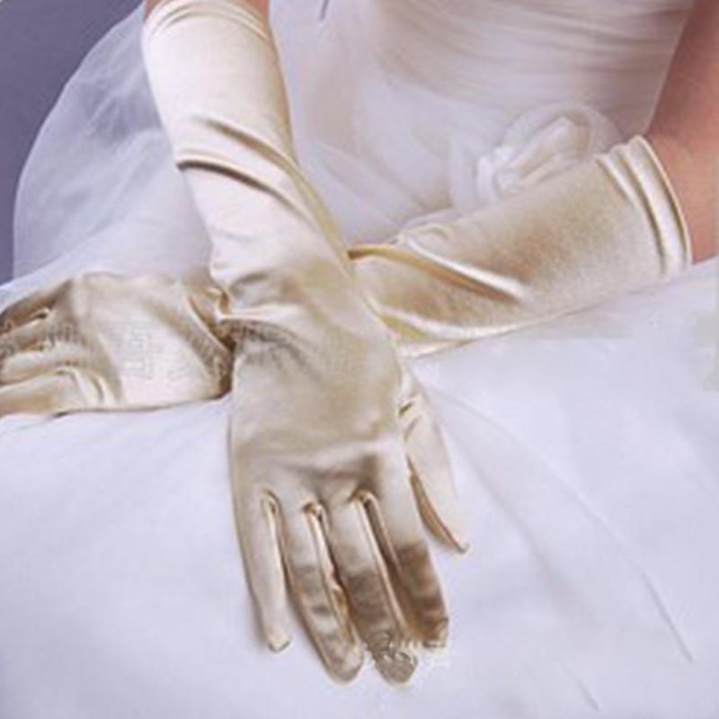 Chic Women Gloves Stretch Halloween Satin Gloves Evening Party Prom Long Gloves Women