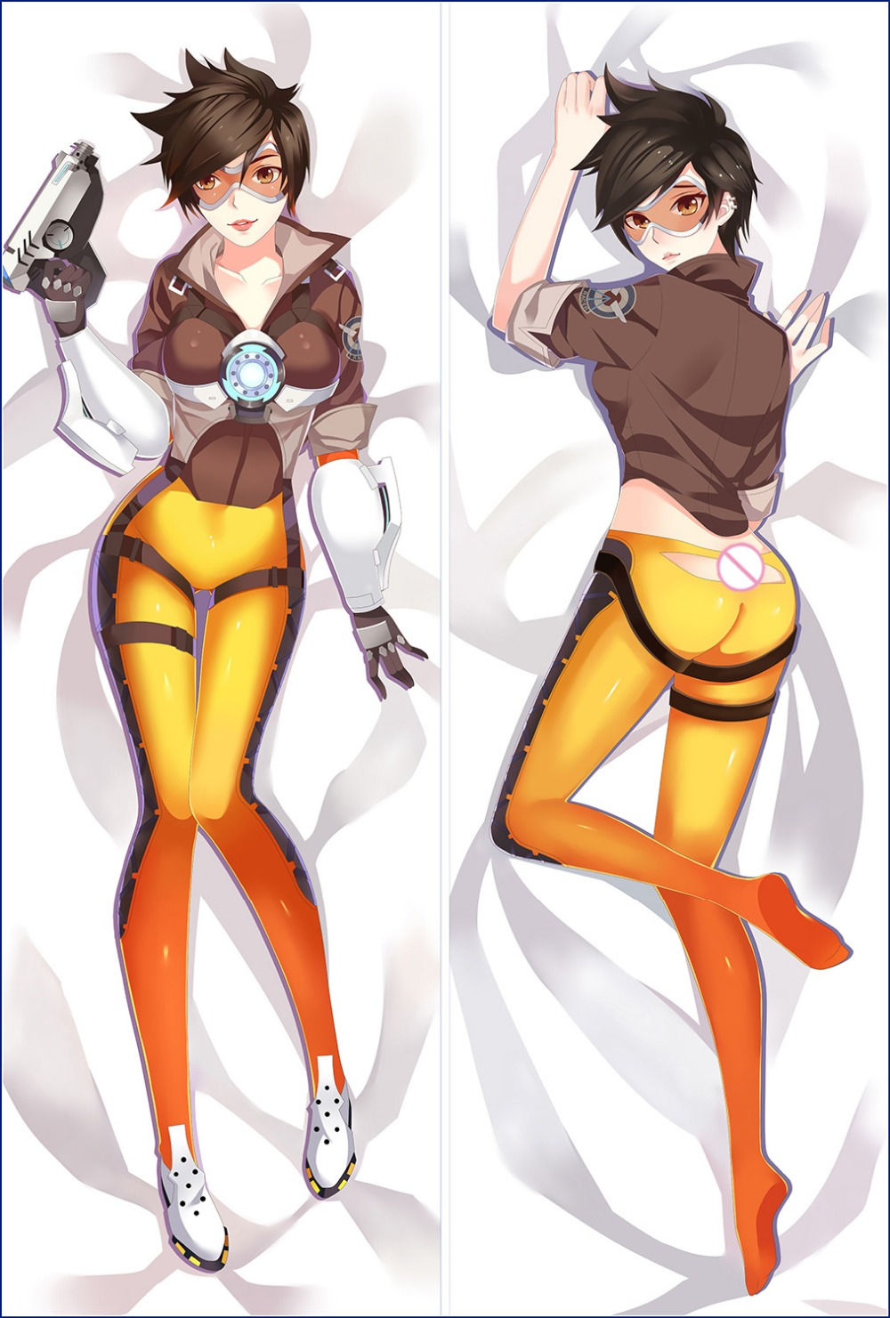 Oct. 2016 update team-based multiplayer first-person shooter video game sexy girl Tracer Lena Oxton Body PillowCase image