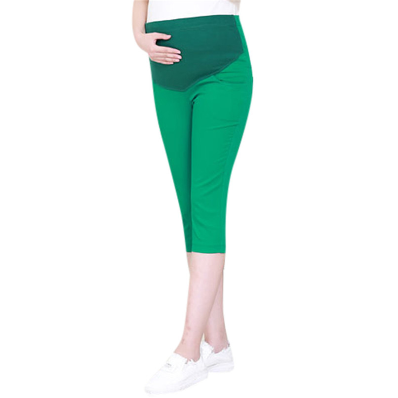Pregnant Women Maternity Calf-Length Pants Pregnancy Casual High Waist Pants Pregnancy Pants Maternity Clothing Female 35AP09