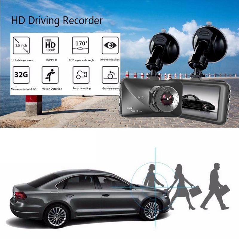 3 дюймов автомобиля тире Камера вождения Регистраторы 170 Широкий формат видео регистратор с сзади Камера инфракрасная камера с режимом ночн