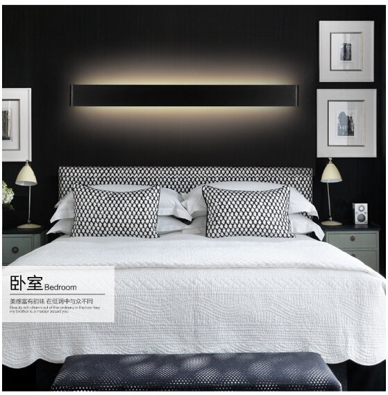 brief black/white led indoor wall lamp 36W/111cm aluminum acryl bathroom mirror light living room bed room IP65 AC95-265V 1758