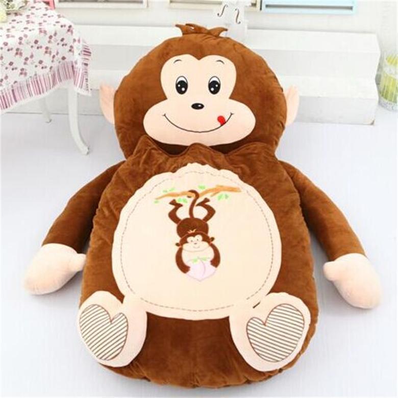 [Drôle] très mignon dessin animé sac de couchage doux animal singe chat grenouille ours lit tapis Tatami canapé tapis pouf peluche jouet enfants cadeau