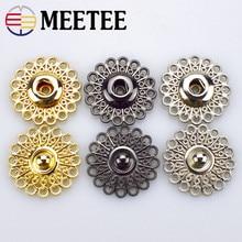 High-grade metal snap button hollow flower type composite coat button button press button contact button