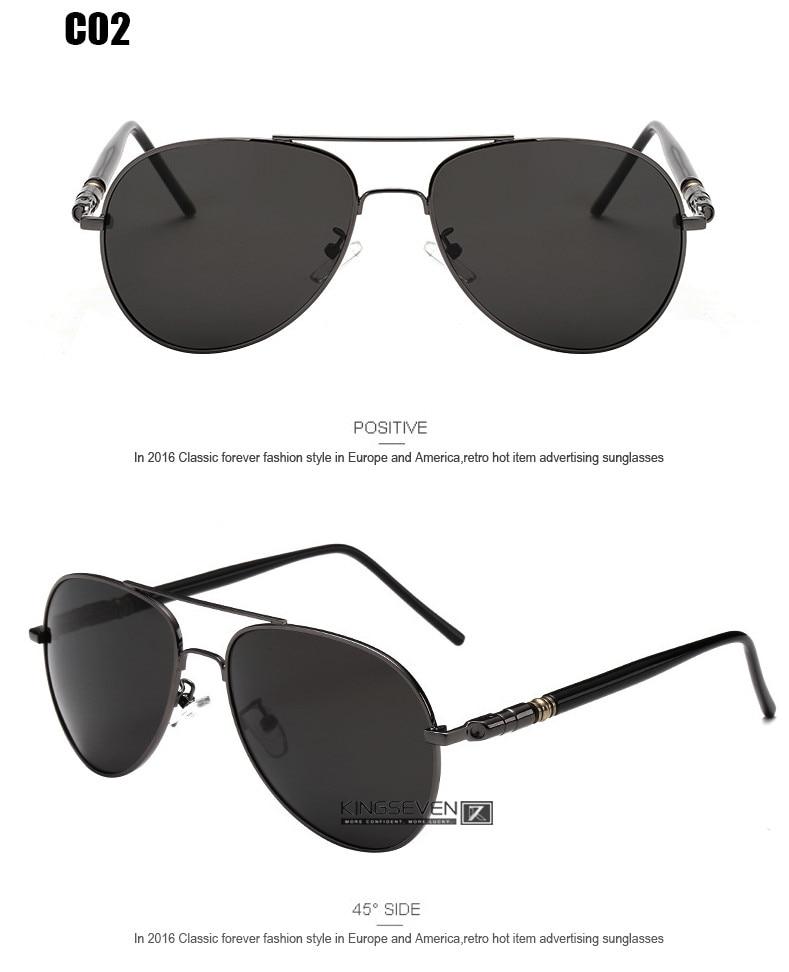 Hot! With 6 Accessories Kingseven Brand Designer Aviator Polarized Sunglasses Men Driving Sport Sun Glasses Women Oculos 7
