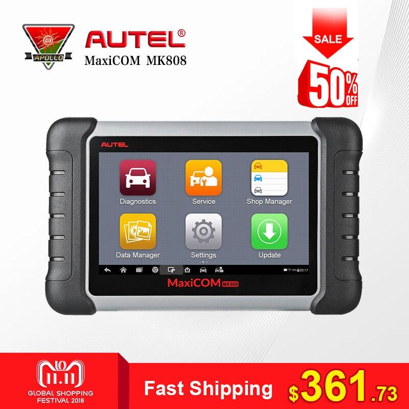 Autel MaxiCOM MK808 Car Auto Diagnostic Tool OBD2 Scanner Automotivo Full Systems Code Reader for Key Programming EPB IMMO DPF цены