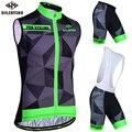 Siilenyond 2019 Pro  без рукавов  с защитой от ультрафиолета  для велоспорта  набор  летний  мужской  MTB  для велоспорта  одежда для гонок  для шоссейног...