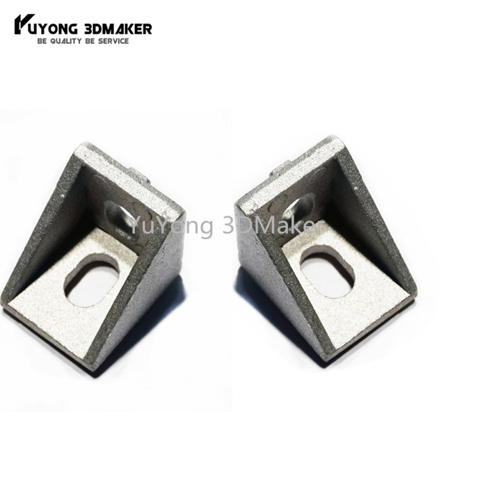 100pcs lot 20 series 90 degree corner bracket 20 20 17mm for v slot aluminum extrusions