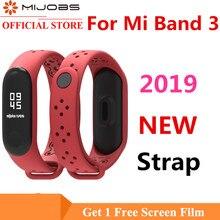 Mijobs Mi Band 3 4 Sports Strap for Xiaomi Silicone Band3 Watchband Bracelet Miband Wristband Smart Watch Accessory