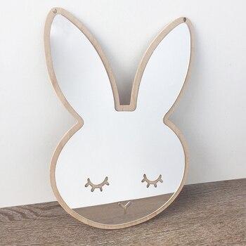 Уютный момент Nordic стиль зеркало стены стикеры висит кошка облако звезда кролик девушка безосколочный акриловый настенный Декор для детско...