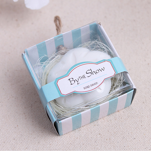 20pcslot bride shower handmade scented soap wedding gifts souvenirs flower shape soap gift for