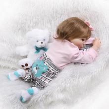 NPKCOLLECTION 57cm Baby Girl Doll Full Silicone Body Lifelike Bebes Reborn Bonecas Handmade Reborn Baby Children Birthday Gift