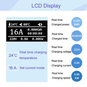 Image 4 - Ev充電器タイプ 1 J1772 eu壁ソケットプラグ 5 メートルevケーブルレベル 2 acモード 2 レベル 2 16A電流changable
