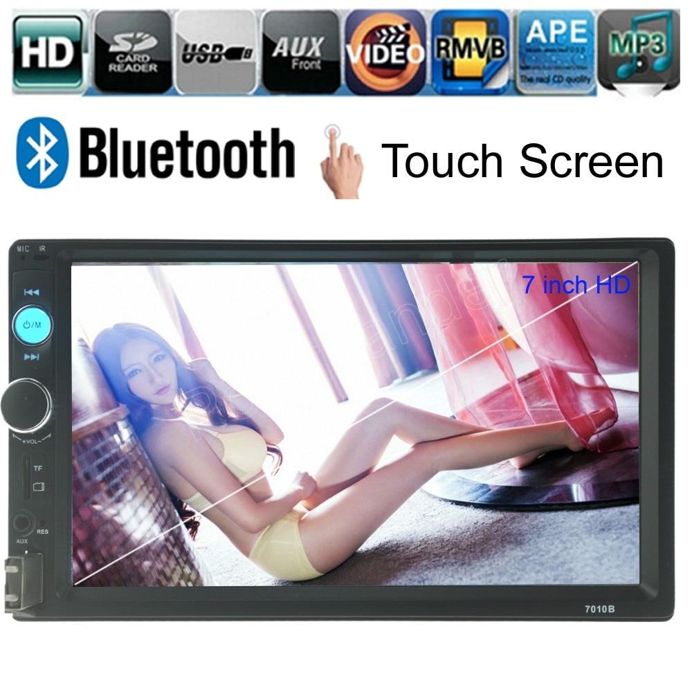 5 языков 7 дюймов 2 DIN автомагнитолы MP5 MP4 плеер с сенсорным экраном автомобиль Bluetooth FM TF USB AUX обратный приоритет аудио стерео