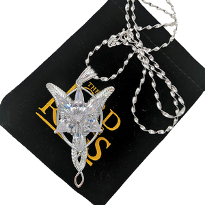 Image 4 - High Quality LOTR S925 Sliver Arwen Evenstar Pendant Necklace Valentines Day Gift for Girlfriend Girl Women Sliver Jewelry