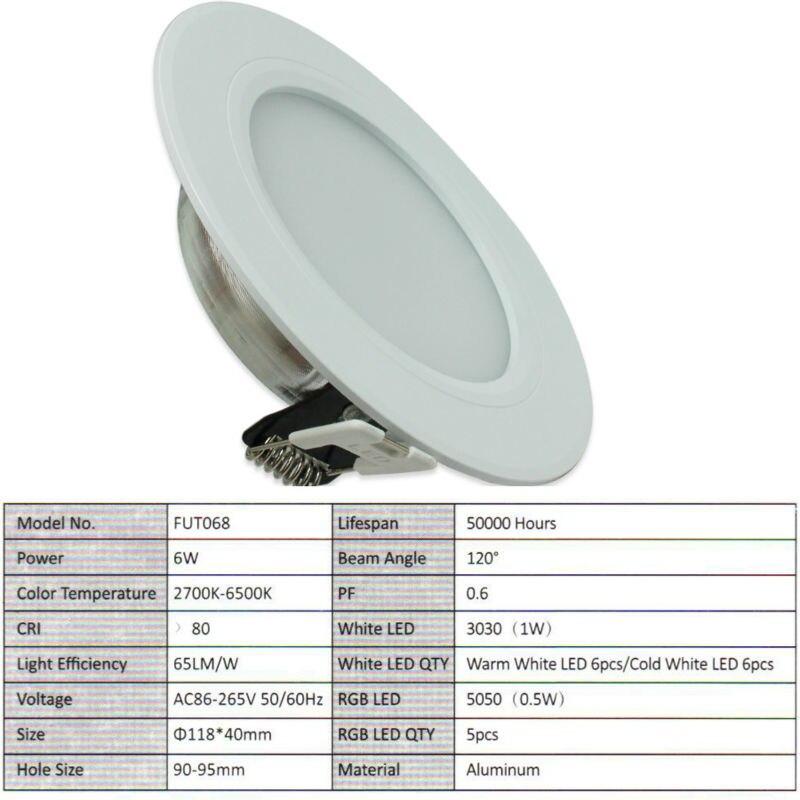 10 дана X 6W LED жарықтандырғыш шам Dimmable Mi - LED Жарықтандыру - фото 4