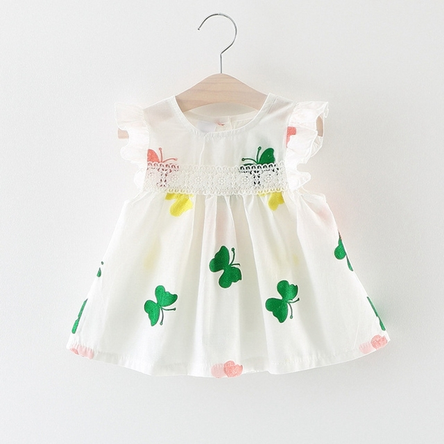 dcfc117969 Aliexpress.com : Buy 6M 3T Baby Girls Dress Floral Printed Kids Clothes for  Summer Bebe Clothing Infant C Tank dress 9 12 18 24 white from Reliable ...