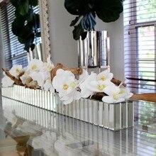 Nine Head, модная Орхидея фаленопсис, латекс, настоящий цветок, искусственный цветок, свадебный цветок, орхидеи, Цветочный, для рождественской вечеринки