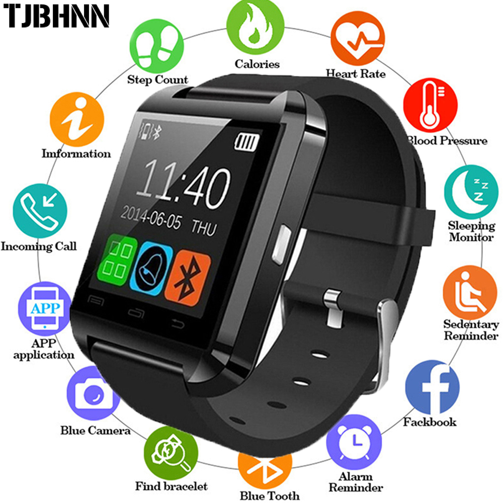 New Smartwatch Bluetooth Smart Watch U8 For IPhone IOS Android Smart Phone Wear Clock Wearable Device   Men Fashion