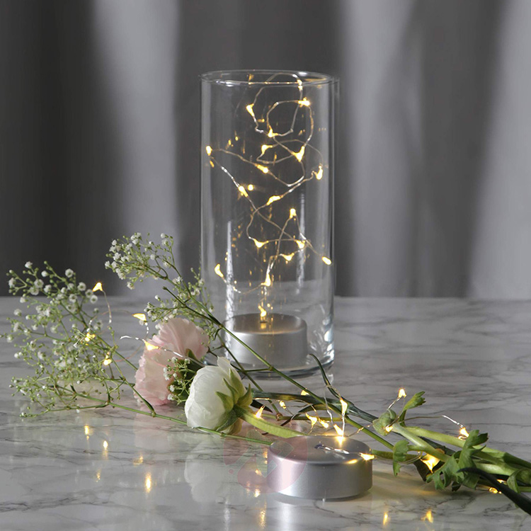 Naked LED Table wire Lights Micro Fairy Lights Battery Operated perfect for dinner parties Wedding Home Christmas Decoration