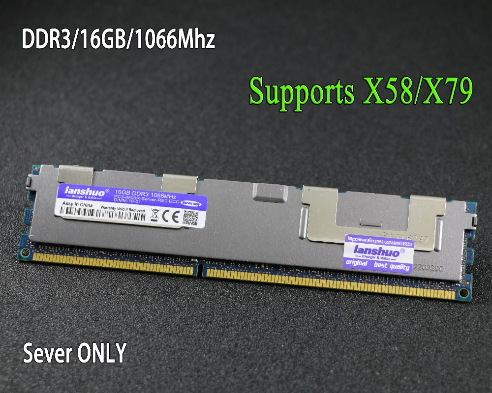 Original chipset 16GB DDR3 1333MHz 1600MHz 16G 1333 1600 radiator REG ECC server memory RAM 100% normal work 32GB 16GB 32G 16G цена