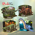 Cubicfun 3D paper model DIY puzzle toy gift game Age of Dinos Dinosaur Jurassic Park 1pc free shipping birthday children