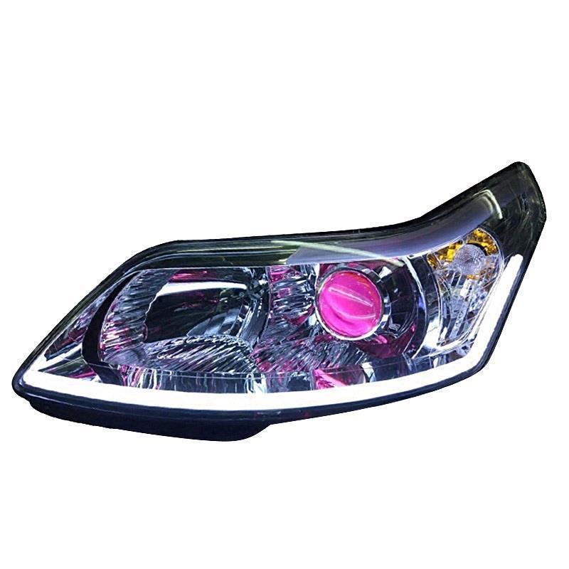 Cob Daytime Assessoires Automobiles Running Lights Styling Lamp Exterior Led Drl Car Lighting Headlights FOR Citroen C-quatre