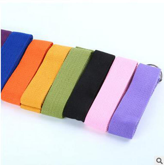 2 Pcs Fitness Yoga Strap Exercise Gym Pilates Stretch D-Ring With the use of Yoga Mat Pants Set Shirt 4