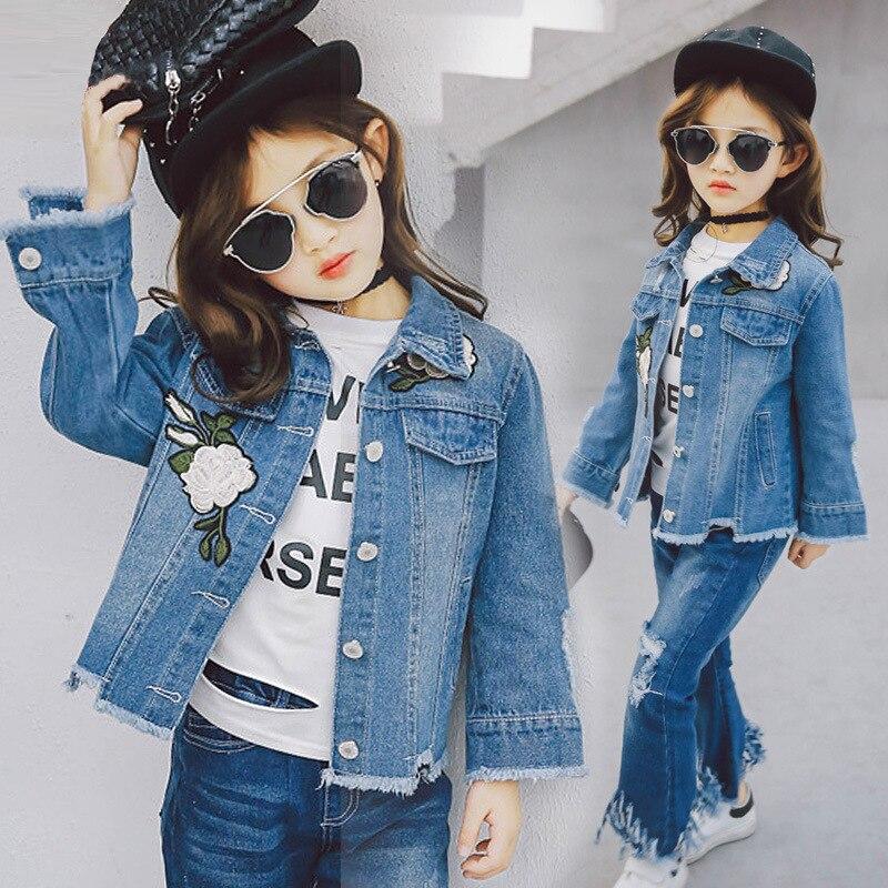 7c6bd3025b53 Baby Mädchen Jeansjacke Vintage Jeans Jacken für Mädchen Kleinkind ...