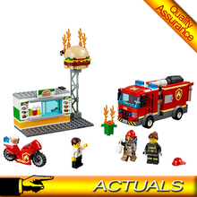 Lepin 02131 Burger Bar Fire Rescue City Building Blocks Firemen Fire truck model Bricks Toys Compatible Legoing 60222 LELE 28048(China)