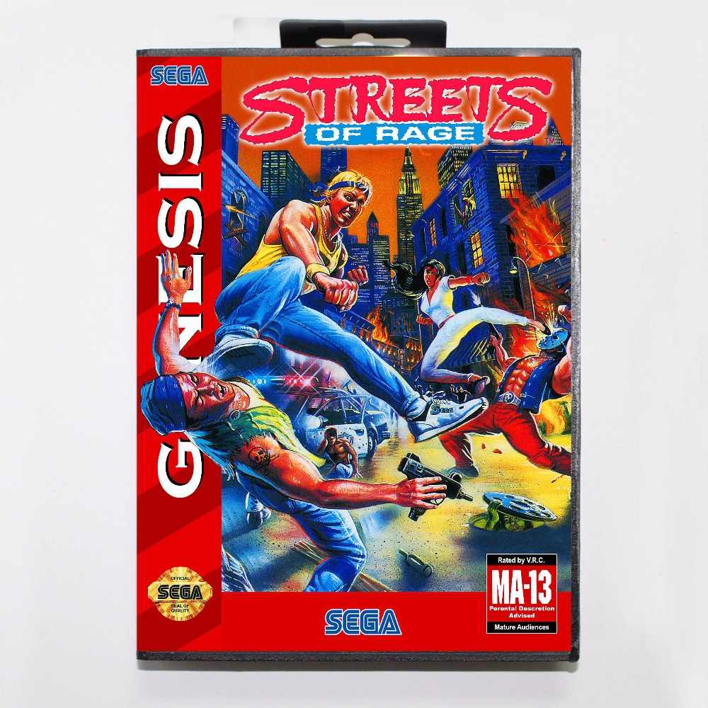 Street Of Rage 16 bit MD Game Card With Retail Box For Sega Mega Drive/ Genesis