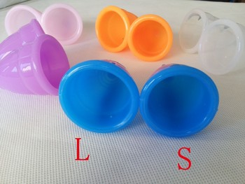 (S+L) 2pc Feminine hygiene products vagina care / lady menstrual cup / alternative tampons medical silicone cups Safety lady cup 1