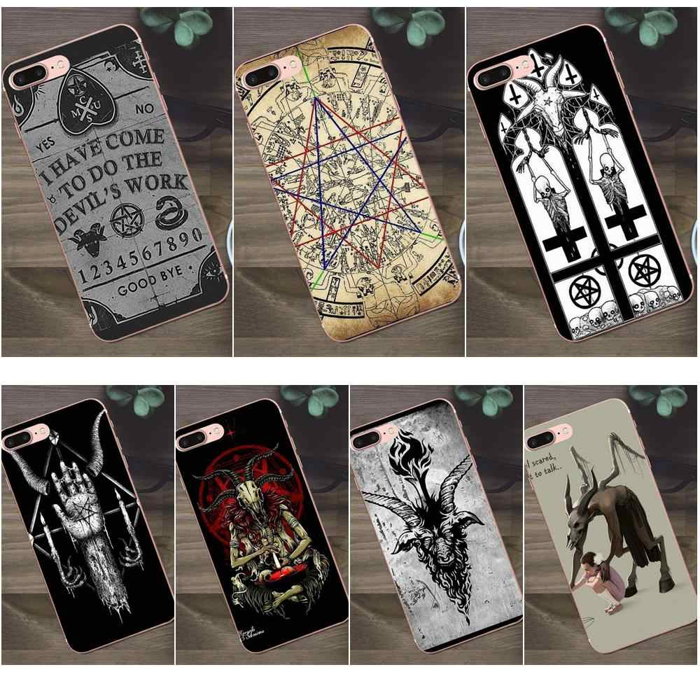 Bixedx For Huawei G8 Honor 5C 5X 6 6X 7 8 9 Y5II Mate 9 P7 P8 P9 P10 P20 Lite Plus 2017 TPU Mobile Satan Pentagram Occult Evil