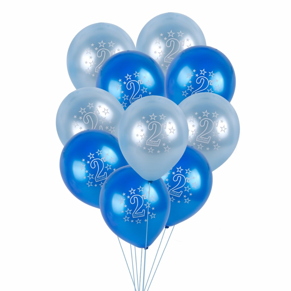 FENGRISE 10PCS 12 2nd Birthday Balloons Happy Party Decoration 2 Year Old Baby Boy Girl Balloon Shower In Ballons Accessories From