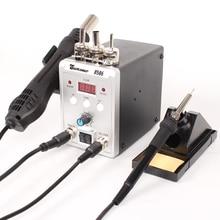 Паяльная станция 8586 2в1 Электрический паяльник фена SMD паяльная пайка сварочный аппарат ремонтный набор инструментов