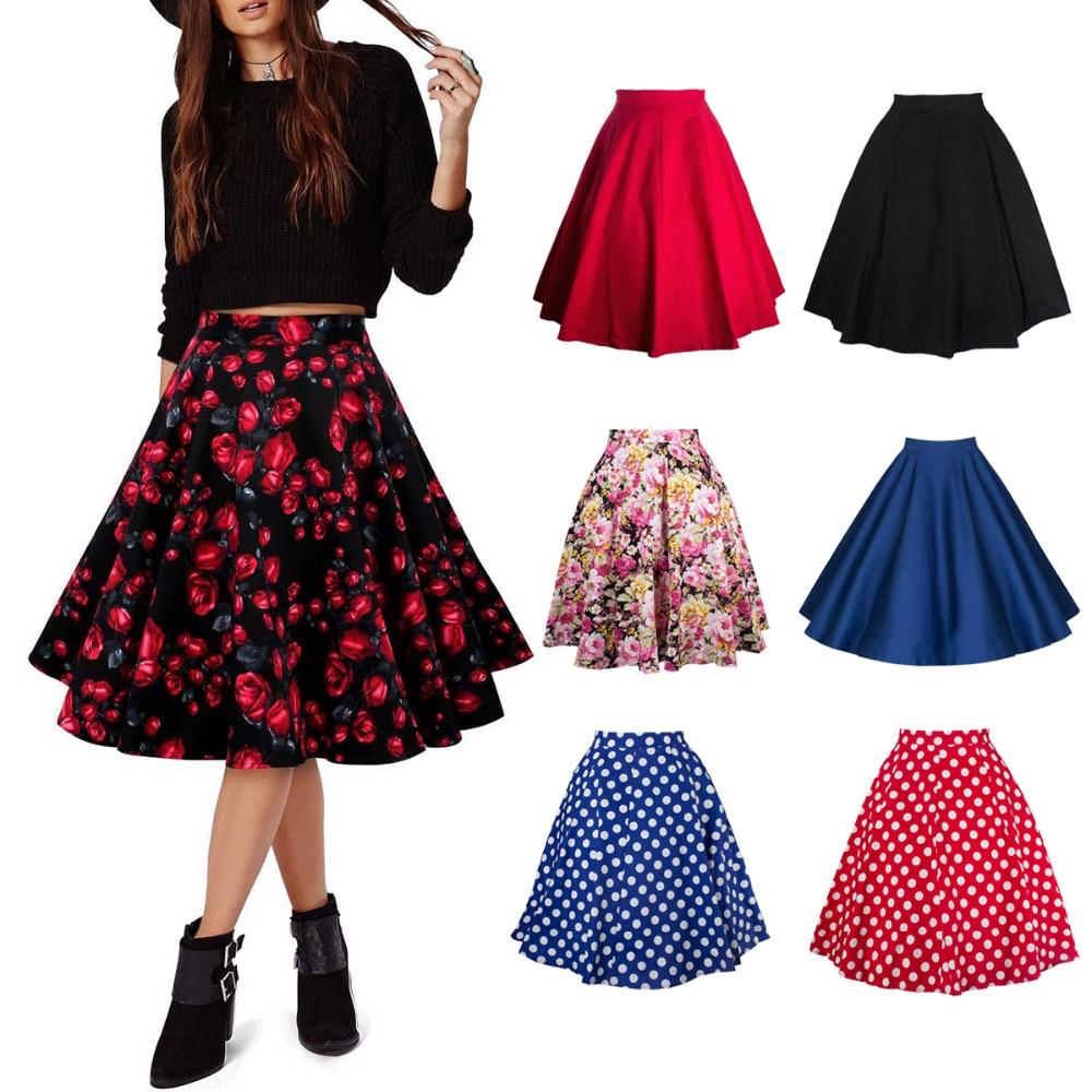 2017 summer skirt vintage stretch floral