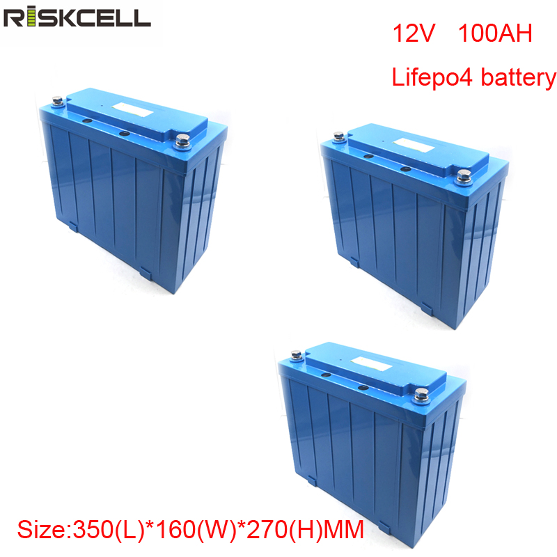 No taxes 3pcs/lot rechargeable lifepo4 12v 100ah lithium ion battery for ev and Solar street light free customs taxes and shipping storage battery lifepo4 lithium battery 12v 40ah for ups solar system security system