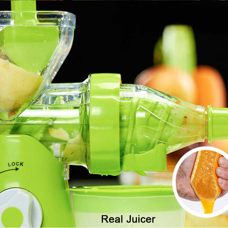 Dropshipping Hand Crank Single Auger Juicer Multifuctional Kitchen Manual Fruit Vegetable Juicer Machine With Suction Base