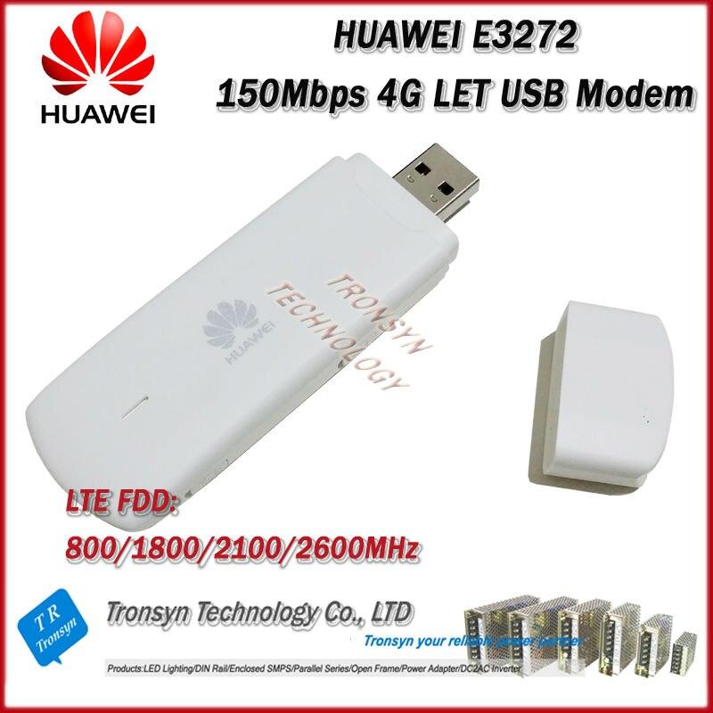 Déverrouillage d'origine en gros LTE FDD 150 Mbps HUAWEI E3272 4G LTE prise en charge du Modem LTE FDD 800/900/1800/2100/2600 Mhz