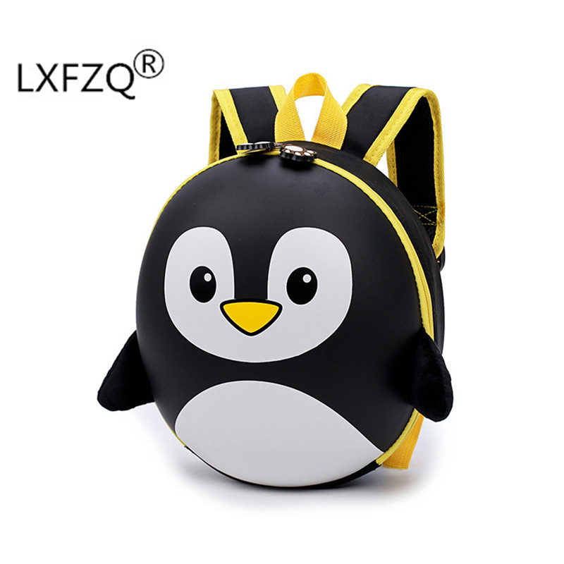 New 3D Children School Bags Cartoon Hard Shell Backpack For Children For Girls Penguin School Backpack For Boy Mochila Infantil(China)