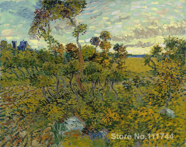 oil reproduction Sunset at Montmajour by Vincent Van Gogh Canvas Painting Hand painted High qualityoil reproduction Sunset at Montmajour by Vincent Van Gogh Canvas Painting Hand painted High quality