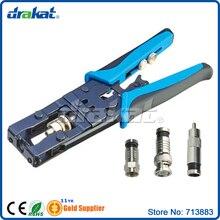 Coaxial RG58 RG59 RG62 RG6 F RCA BNC Connector Crimper
