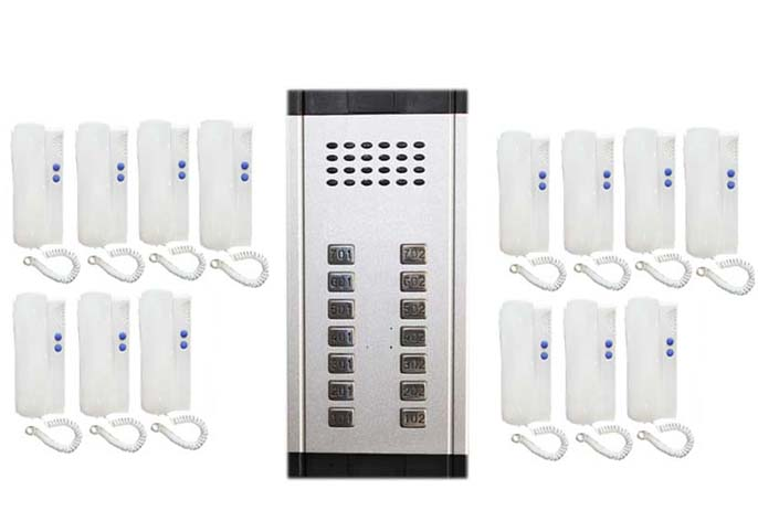 Türsprechstelle Xinsilu Home Security Direkt Drücken Sie Die Taste Audio Tür Telefon Für 14 Wohnungen 2-wired Audio Intercom System Audio Intercom