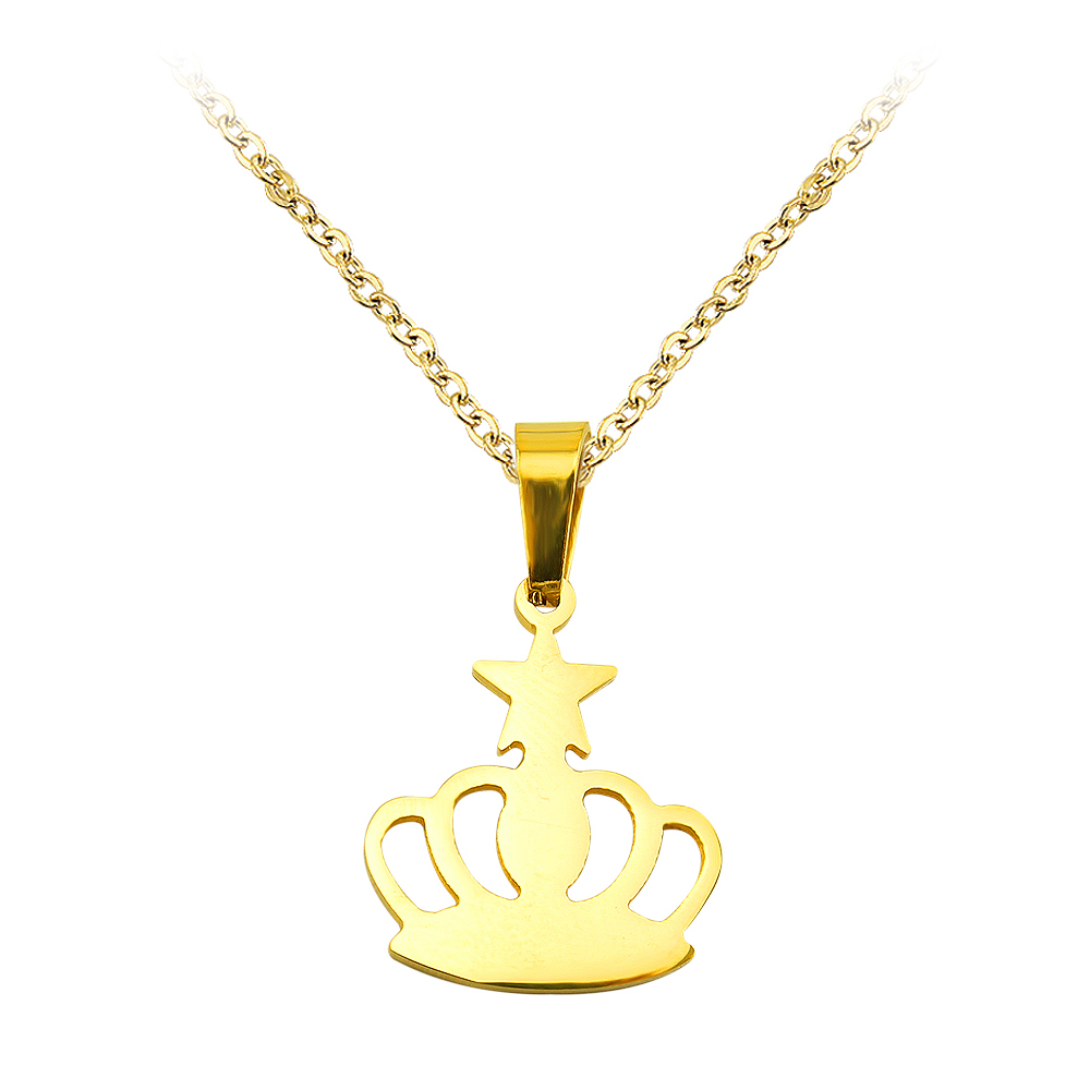 steel hip necklaces stainless gold pendant hop with charm cuban item crown out in iced color necklace rhinestone king chain from