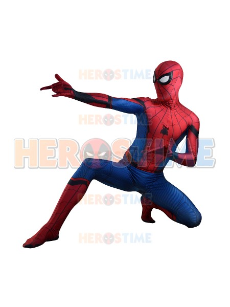 New Movie Spider-Man: Homecoming Spiderman Cosplay Costume Spandex Print Spiderman Superhero Costume