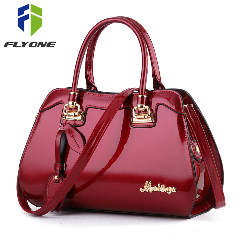 7627cd3c09c7 Элегантные женские Сумки сумка Новая мода дизайн сумка Для женщин  Повседневное Лакированная кожа Сумочка Курьерские сумки